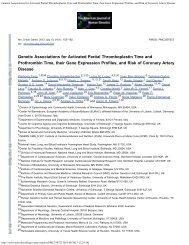 Genetic Associations for Activated Partial Thromboplastin Time and ...