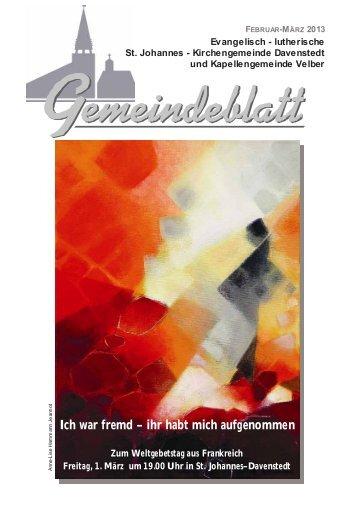 März 2013.pdf - Ev.-luth. Kirchengemeinde St. Johannes Davenstedt