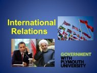 International Relations - Plymouth