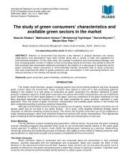 The study of green consumers' characteristics and ... - irjabs.com