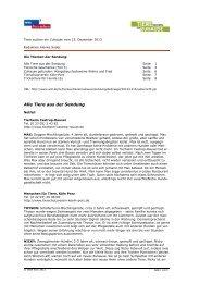 PDF zur Sendung vom 15. Dezember 2013 - WDR