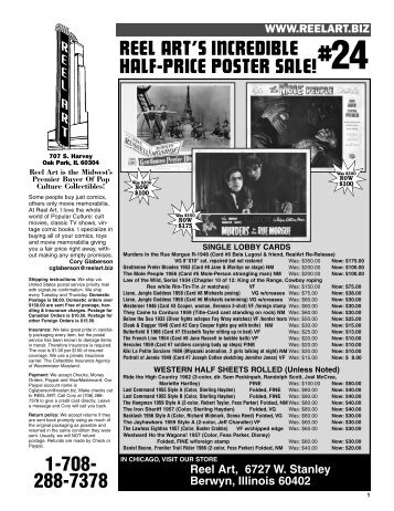 reel art's incredible half-price poster sale! - Reel Art Collectibles
