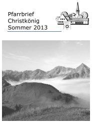 Pfarrbrief online - Pfarrei Christkoenig Augsburg