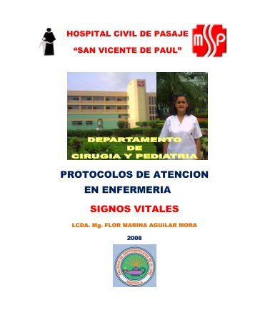 PROTOCOLOS DE ATENCION EN ENFERMERIA SIGNOS VITALES