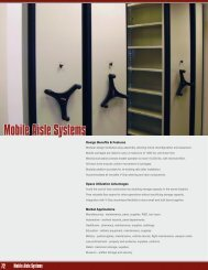 Mobile Aisle Systems - Equipto