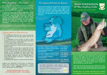 attached leaflet - The Irish Federation of Pike Angling Clubs
