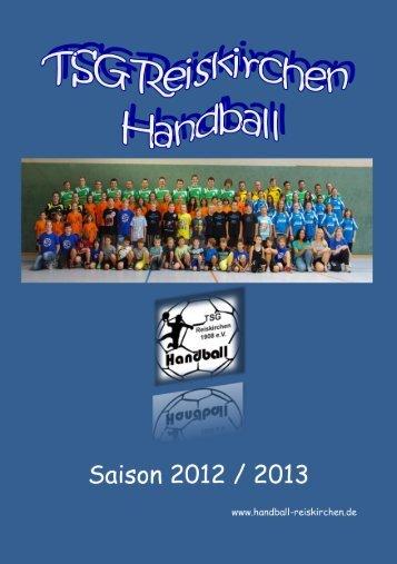 Saisonheft 2012/2013 - TSG Reiskirchen Handball