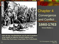 Chapter 4: Convergence and Conflict 1660-1789