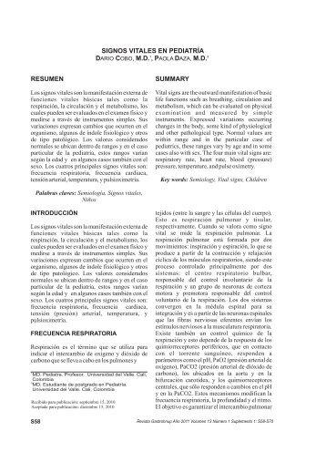 Signos vitales en pediatría - Rev Gastrohnup - Universidad del Valle