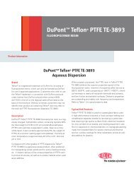 DuPont™ Teflon® PTFE TE-3893 Aqueous Dispersion
