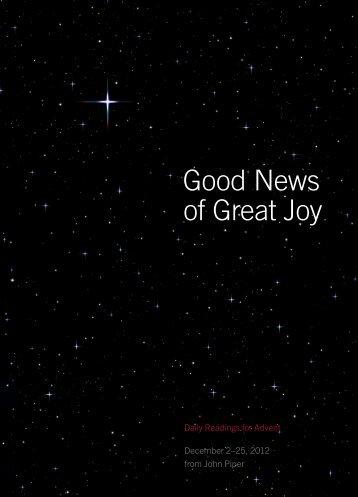 Good News of Great Joy - Highland Christian School