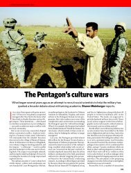 The Pentagon's Culture Wars - Sharon Weinberger