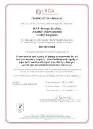 Lloyd's Register Certificate of Approval - HPF Energy Services