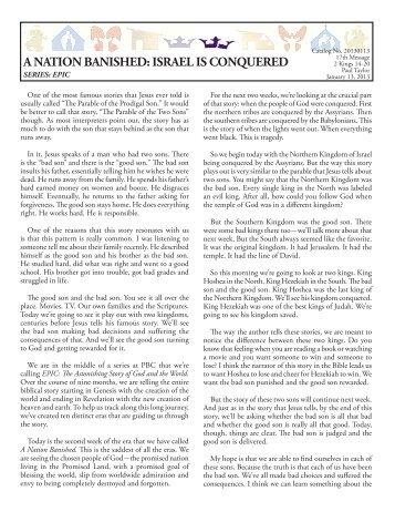 20130113 WEB Format.indd - Peninsula Bible Church