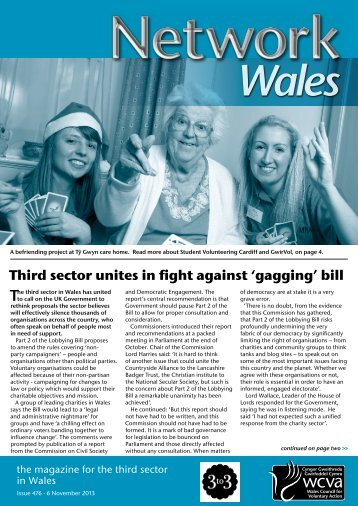 Network Wales 476, 6 November 2013 - WCVA