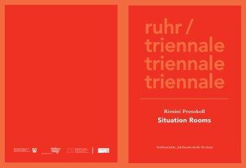Programmheft Situation Rooms - Rimini Protokoll