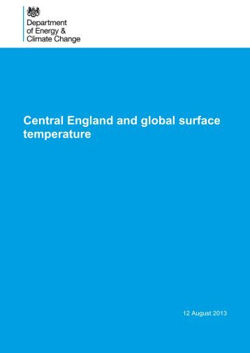 Central England and global surface temperature - Gov.uk
