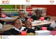 PILOT PHASE EVALUATION Tiger Brand Foundation's in-school ...