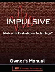 Owners Manual - Timbral Research