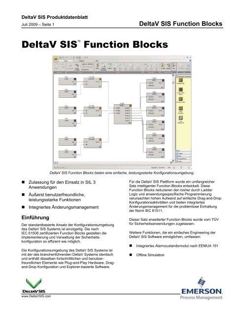 DeltaV SIS Function Blocks - Emerson Process Management