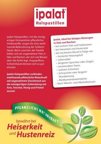 Tipps und Tricks bei Heiserkeit.pdf - Dr. Pfleger