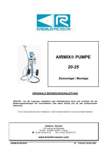 AIRMIX® PUMPE 20-25 - Kremlin Rexson Sames