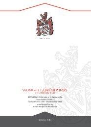 Preisliste 2013 - Weingut Gebrüder Bart