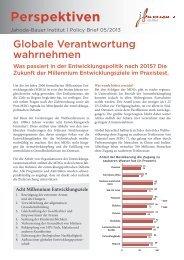 Globale Verantwortung - Marie Jahoda – Otto Bauer Institut