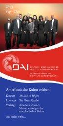 Amerikanische Kultur erleben! 2013 Sep - Dez - Deutsch ...