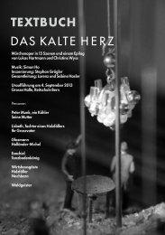 pdf, 1.3MB 04.-15.09. Das kalte Herz - Auszug ... - Musikfestival Bern