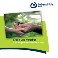 Erben und Vererben - Lebenshilfe Bonn