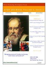 ATDF JOURNAL Volume 4, Issue 2 - African Technology Development Forum