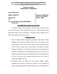 Marie Johnston v. City of Chicago Police Department - State of Illinois