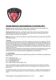 Verslag Algemene Jaarvergadering 11 november 2011. - Berkhout