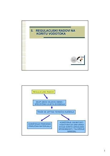 5. regulacijski radovi na koritu vodotoka 5. regulacijski radovi na ...