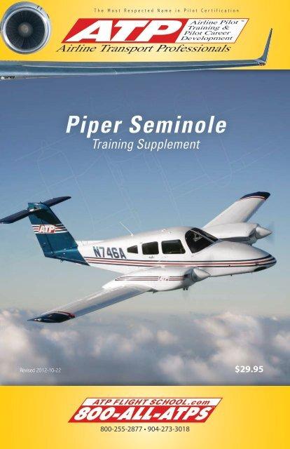 Atp Piper Seminole Training Supplement Atp Flight School