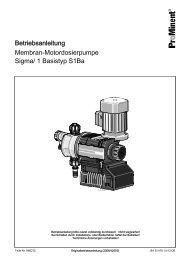 Membran-Motordosierpumpe - Sigma/ 1 Basistyp S1Ba - ProMinent