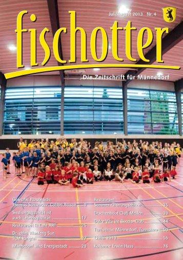 Die Zeitschrift für Männedorf Die Zeitschrift für Männedorf