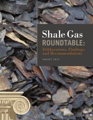 Shale Gas Roundtable: Deliberations, Findings and ...
