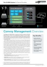 Convoy Management Overview - Edgeware