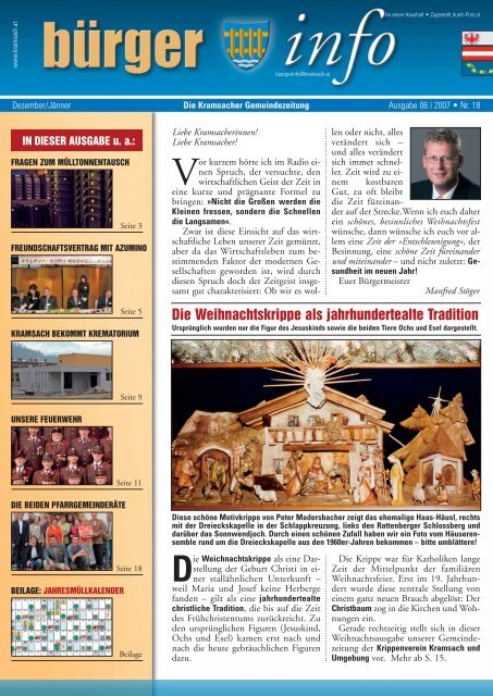 pfarrer franz auers »gedanken zur zeit - Gemeinde Kramsach