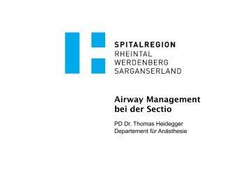 Airway Management bei der Sectio