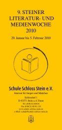 29.1. bis 5.2.2010 - Schule Schloss Stein