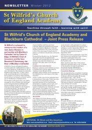 Newsletter Winter 2013 - St Wilfrid's