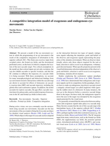 A competitive integration model of exogenous and endogenous eye ...