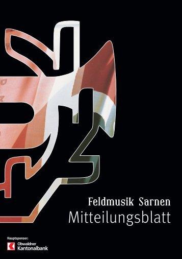 Mitteilungsblatt - Feldmusik Sarnen