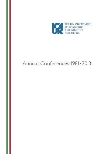 Annual Conferences 1981-2013 - The Italian Chamber of ...