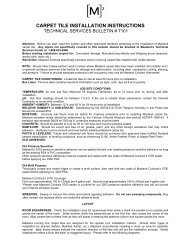 CARPET TILE INSTALLATION INSTRUCTIONS - Masland Contract