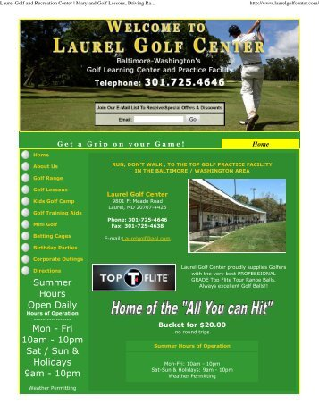 Golf: Driving Range, Mini Golf, Birthday Parties, Golf Lessons