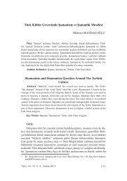 9. Türk Kültür Çevresinde Şamanizm ve Şamanlık Meselesi